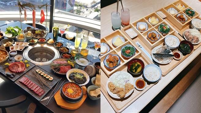 虎三同、银座杏子日式猪排、京都胜牛纷纷推出美味的套餐。(邱映慈摄)