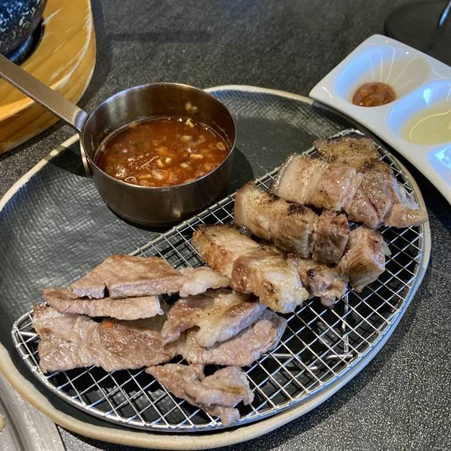 豚肉主打西班牙伊比利猪与台湾本地究好猪等可供选择。(邱映慈摄)