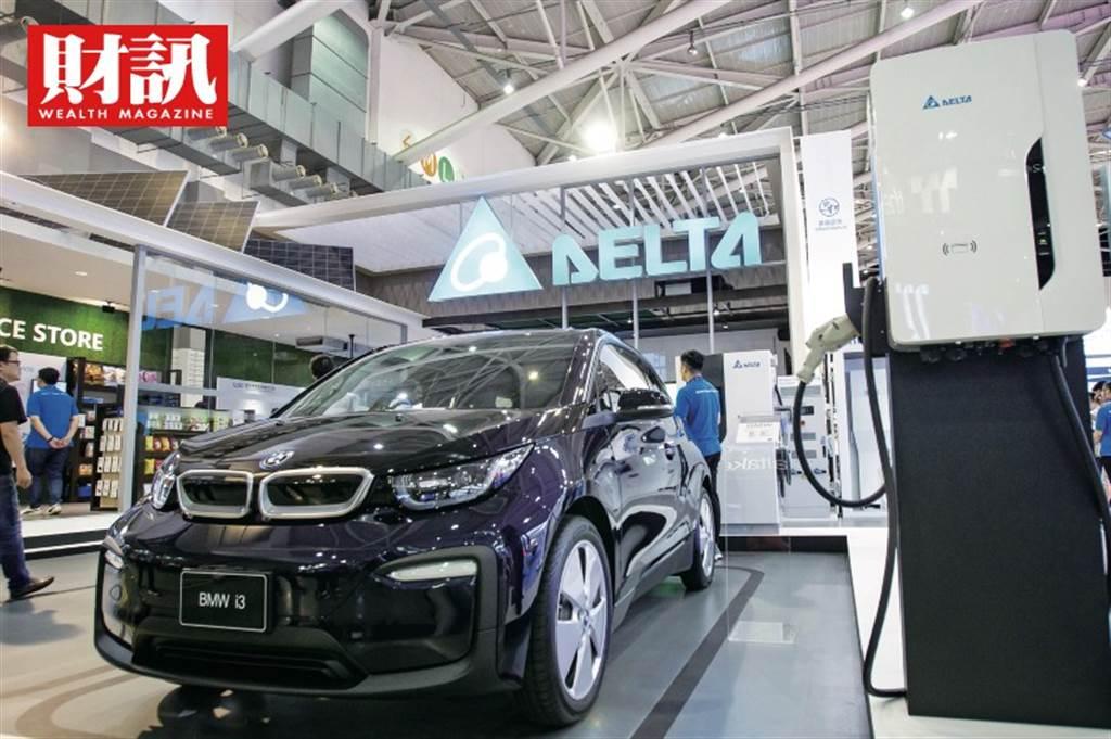 台達電,台灣電動車產業的最強先鋒,不僅打入全球電動車龍頭特斯拉的供應鏈,全球前十大車廠生產的電動車,也都是它電力動力系統關鍵零組件及充電樁的主力客戶群。(圖/財訊提供)