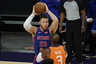 NBA》活塞即將買斷葛瑞芬 多支球隊有興趣