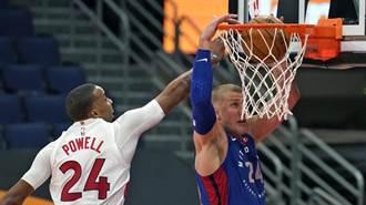 NBA》雙先發同場大三元 東區墊底活塞痛宰暴龍