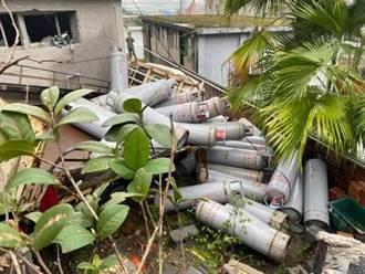 五股憲兵訓練中心遭貨車衝破圍牆 數十支瓦斯桶滾滿地駕駛送醫