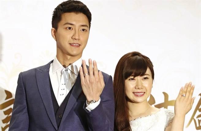 福原愛、江宏傑在2016年結婚。(圖/中時資料照片)