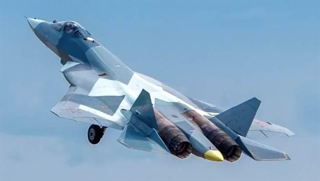 俄羅斯蘇-57戰機的資料照。(達志影像/Shutterstock)