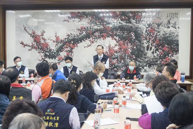 萬和宮董事長蕭清杰,期許今年西屯省親遶境活動圓滿成功。(萬和宮提供)