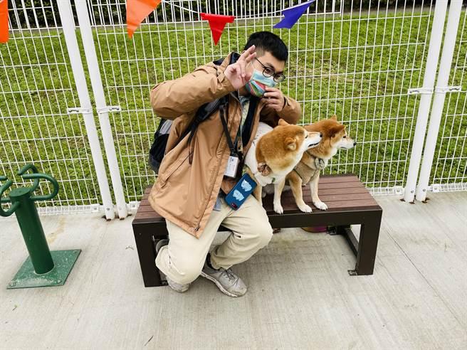 毛孩的快樂天堂!台北第8處「寵物友善地圖」古亭河濱狗狗活動區正式開放!(吳康瑋攝)