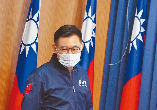 有關大陸暫停台灣鳳梨輸入,國民黨主席江啟臣再次呼籲民進黨政府,依據2009年《海峽兩岸農產品檢疫檢驗合作協議》,加速與對岸實質協商。(范揚光攝)