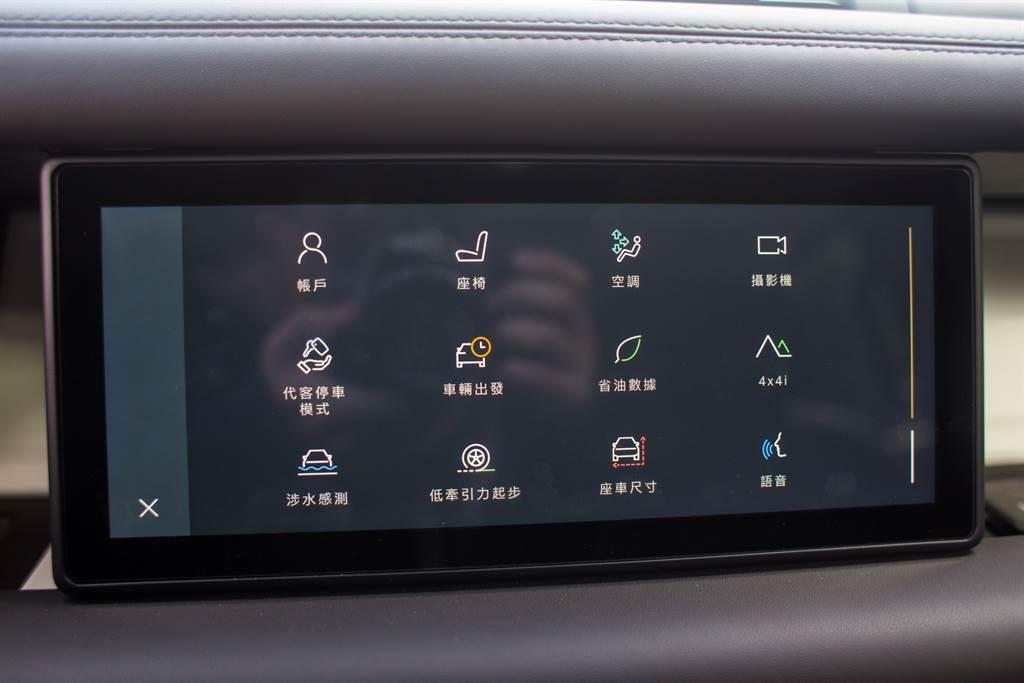 與多數新世代主機一樣,將車輛設定整合進主機中,實體按鍵僅留下少數功能。(陳彥文攝)
