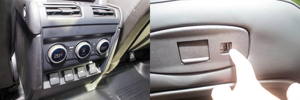 後座也提供雙區恆溫空調,電源供應部分除了12V外也提供標準的110V,並且在前座椅背後以及中央鞍座後方都提供USB口。(陳彥文攝)