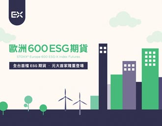 元大領進門 歐洲600ESG期貨 在台上市