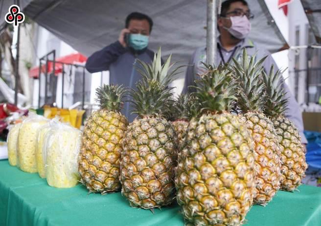 圖為受大陸市場歡迎的金鑽鳳梨。(本報系資料照)
