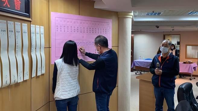 中有1名柯姓會員代表因任職於新北果菜公司,經會員投票表決後,認定不符會員資格,喪失投票權。(民眾提供/許哲瑗新北傳真)