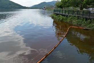 花蓮鯉魚潭葡萄球藻孳生 潭面染紅發臭遊客心驚