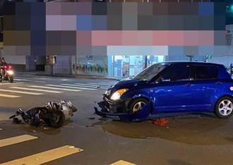 澎湖大池村牌樓前 男子雙載狠撞汽車1死1傷