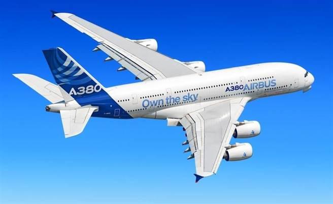 空中巴士A380客機的資料照。(達志影像/Shutterstock)