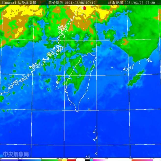 今午鋒面到變天越晚雨越大。(圖/翻攝自氣象局)