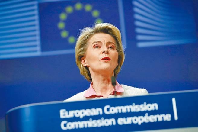 歐盟執行委員會主席馮德萊恩。(美聯社)