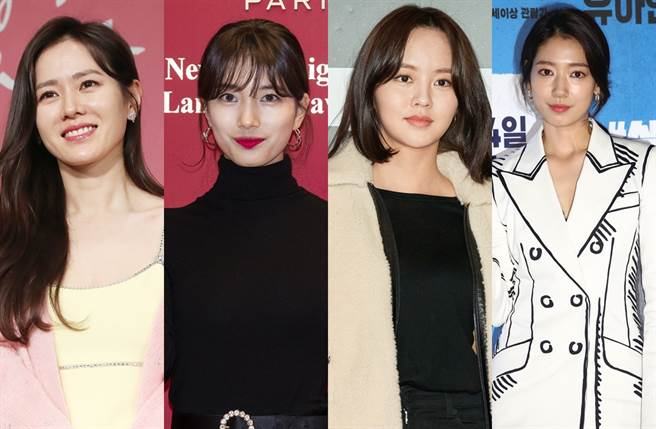 孫藝真(左起)、秀智、金所炫、朴信惠列2021韓國最美女演員第10到6名。(圖/達志影像)