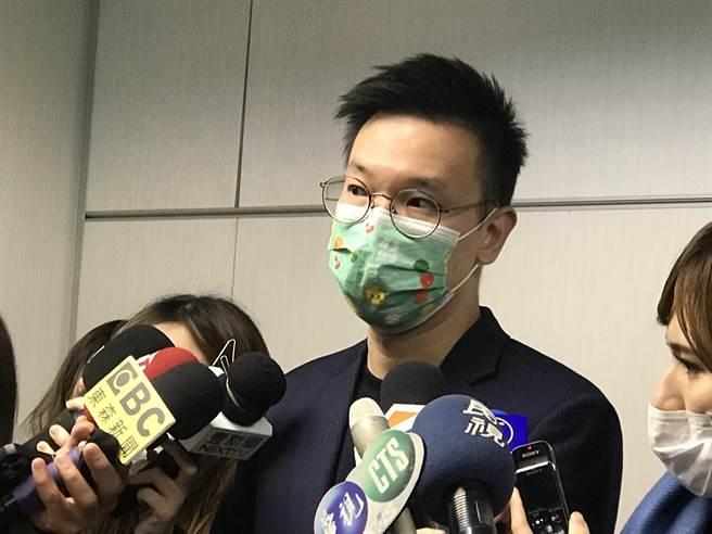 民進黨副秘書長林飛帆。(曾薏蘋攝)