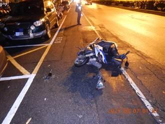 台中賓士車撞機車 23歲女騎士彈飛150公尺頭部重創命危