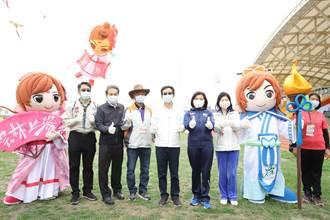 空中布袋戲風箏登場 為全中運在雲林暖身