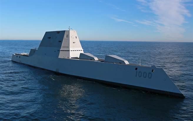 朱瓦特级隐形驱逐舰首舰「朱瓦特」号(USS Zumwalt,DDG 1000)隶属美国太平洋舰队。(达志图库/TGP)