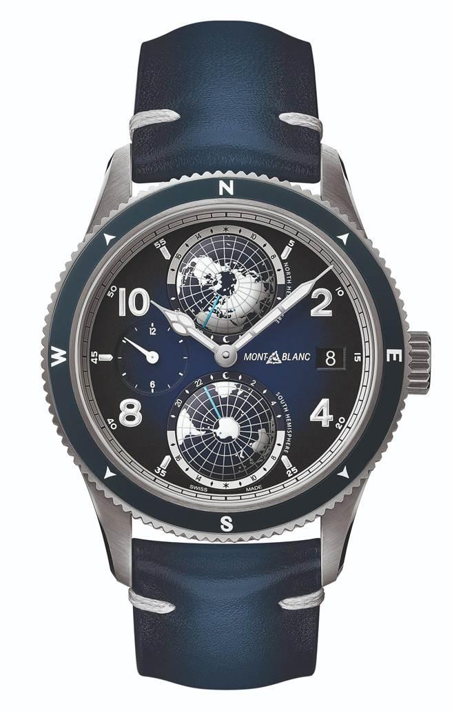 萬寶龍1858系列Geosphere世界時間腕表,19萬3700元。(Montblanc提供)