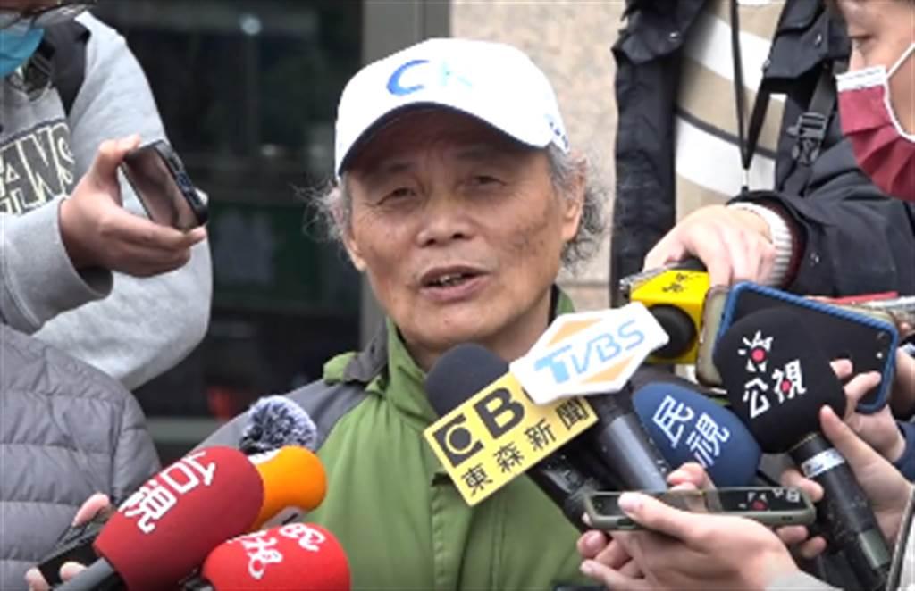 藻礁公投領銜人潘忠政8日下午4時在萬華火車站開記者會。 (圖/取自珍愛桃園藻礁臉書)