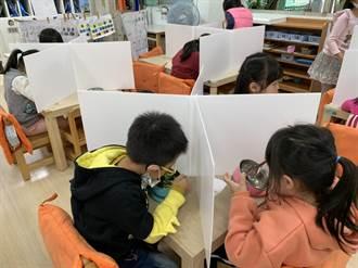 竹市特製1萬5000組幼兒防疫隔板 孩童用餐防疫更全面