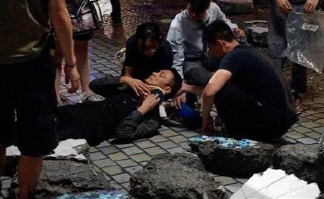 劉德華在片場驚傳受傷意外。(圖/翻攝自微博)