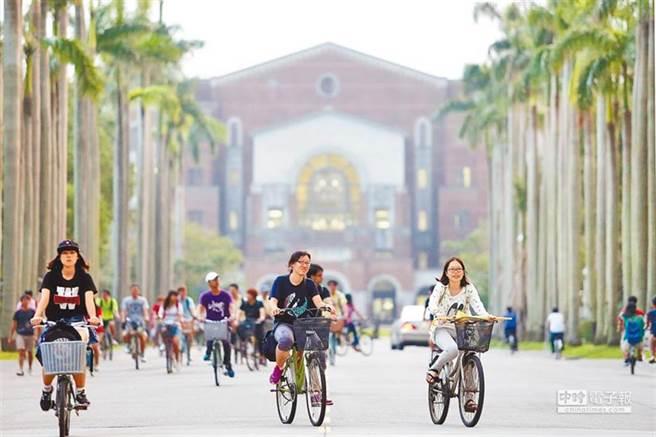 《Cheers》雜誌公布2021企業最愛大學生,結果台灣大學睽違5年,重回「企業最愛大學生」Top1。圖為台大校園。(本報資料照)
