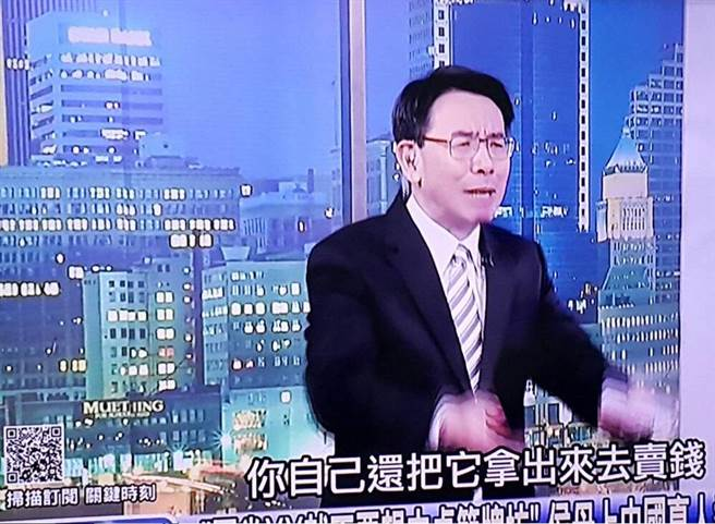 刘宝杰狠批林月云、侯佩岑母女。(翻摄自东森新闻《关键时刻》)
