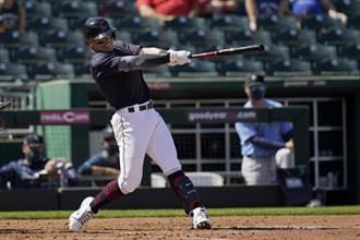 MLB》張育成棒打菊池雄星 熱身賽第3轟出爐