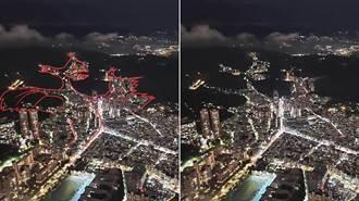 台北101观景台 眺望大台北夜空 发现了一头「远古神兽喷火龙」