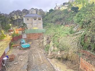 新竹社區邊坡清晨突崩坍 市府啟動緊急修護工程
