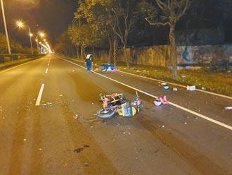 追撞无车灯自行车 中尉重摔亡