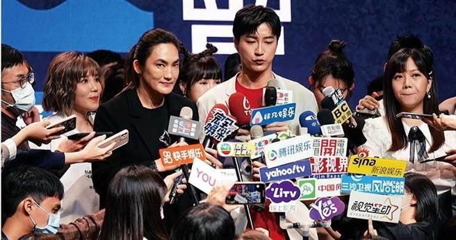 2月25日江宏傑出席《全明星運動會》記者會,被問到婚姻狀況,他當時表示夫妻間的相處只有各自明白。(圖/報系資料庫)