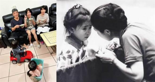 從小在母親嚴厲管教下學習桌球的福原愛,已成為日本的「國民女兒」,如今她深陷外遇風暴,愛媽則留在台灣由江家照顧。(圖/翻攝自江宏傑臉書)