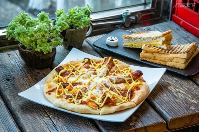 手揉現烤出的Q彈餅皮Pizza,吃來讓人驚喜連連。(圖/行遍天下提供)