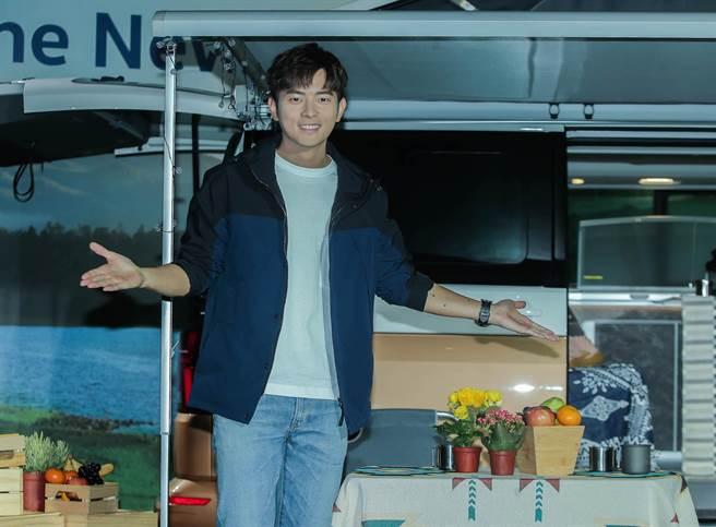 宥勝今出席福斯商旅露營旗艦車款T6.1 California Ocean在台上市記者會。(粘耿豪攝)