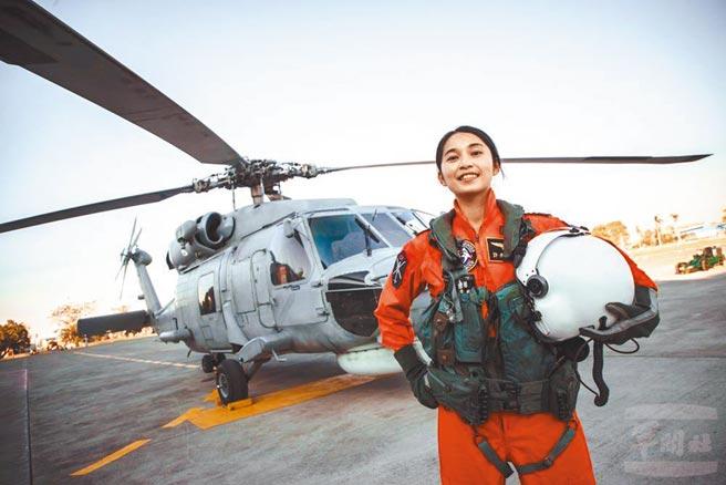 海軍反潛直升機飛行官許秀青上尉。(軍聞社提供)