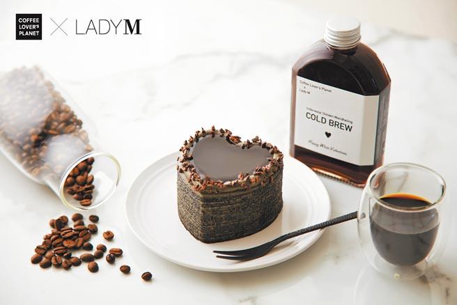 Lady M X COFFEE LOVER's PLANET首度聯名,推出白色情人節限定組合,660元。(Lady M提供)