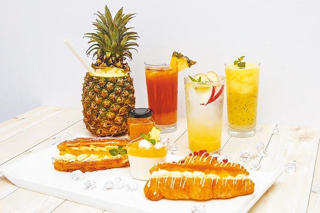 六福旅遊集團旗下各單位將陸續推出逾20種鳳梨餐點。(六福旅遊集團提供)
