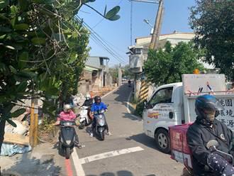 龍潭狹窄小巷路幅僅3米 地方爭取擴寬成功