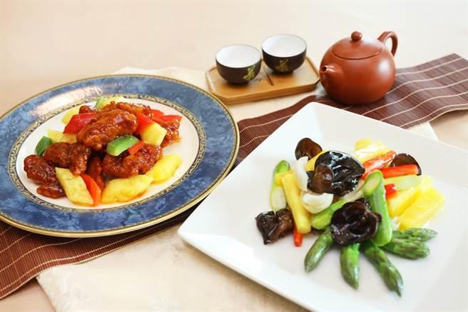 台中金典酒店力挺農民,金園中餐廳推出多道鳳梨料理。(金典酒店提供/台中馮惠宜傳真)