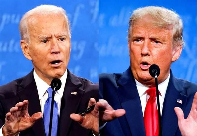圖為美國民主黨總統拜登(左)、前總統川普(右)。(圖/美聯社、路透社)