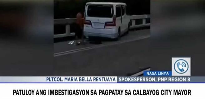 市长阿基诺的座车遭到袭击。(图/翻摄自ABS-CBN News)