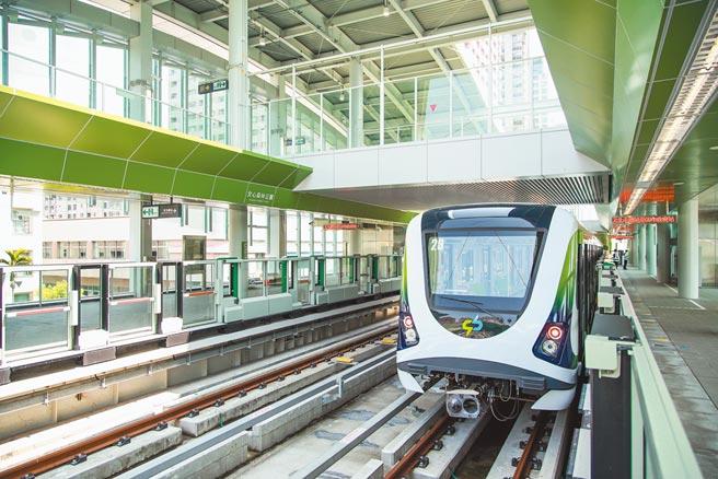 台中捷運綠線恢復試營運的時間,預期可能在3月底到4月初連假前。(盧金足攝)