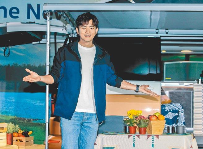 宥勝昨分享去年10個月的露營旅行生活。(粘耿豪攝)