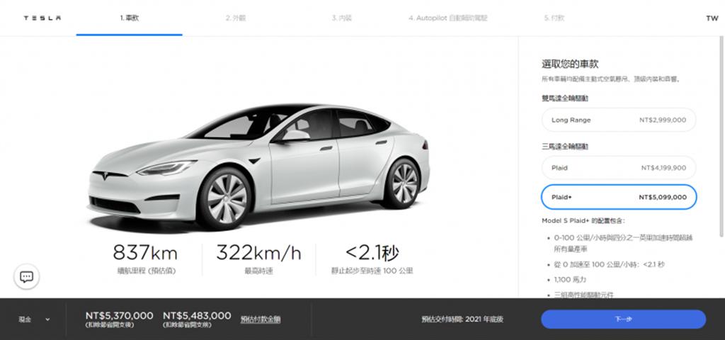 特斯拉突然漲價!Model S Plaid+ 漲幅高達 30 萬元,Model 3/Y 美國也變貴